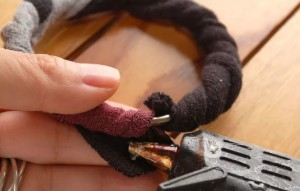 как сделать тканевый браслет