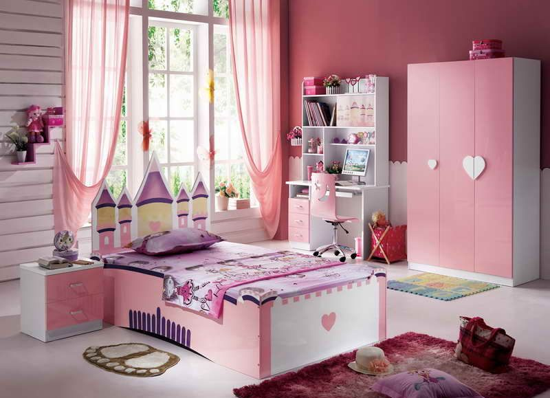 curtains baby room pink