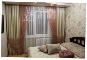 Шторы для спальни 9912