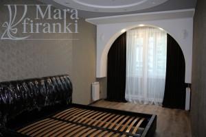 красивый дизайн штор для спальни